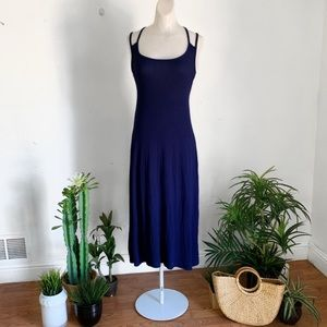 Urban Outfitters Ecoté Strappy Blue Maxi Dress